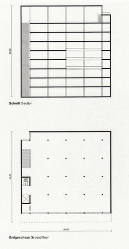 Silent Architecture [Museum section and plan]