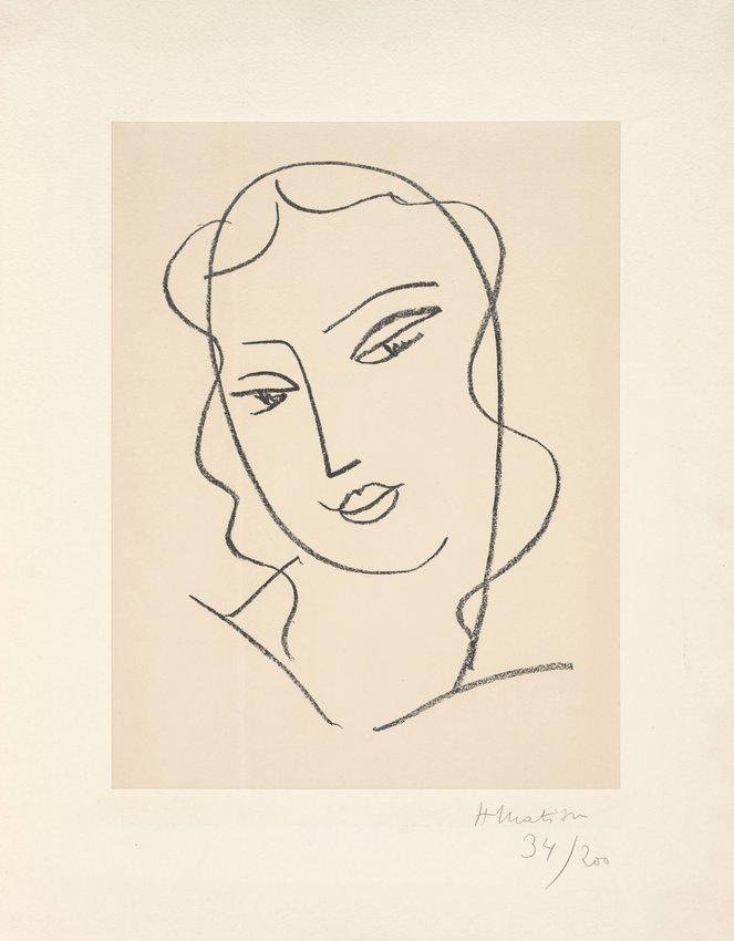 """image of 'Etude pour la vierge """"Visage"""" (Study for the Virgin """"Face"""")'"""