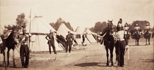 Lancers and Dragoons with Colonel Pajol, Camp de Chalons
