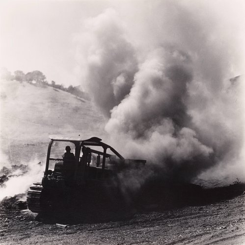 Bulldozer Moving Burning Pile, from the series Death of a Valley