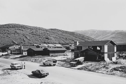 Prospector Village, Lot 12, looking Southwest on Comstock Drive toward Masonic Hill, from the portfolio Park City