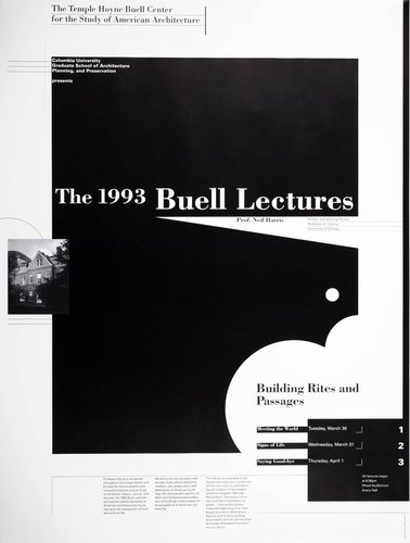 Columbia University, 1993 Buell Lecture Series poster