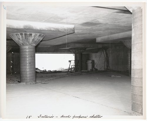 Atomic Tests in Nevada [Interior - dual purpose shelter]