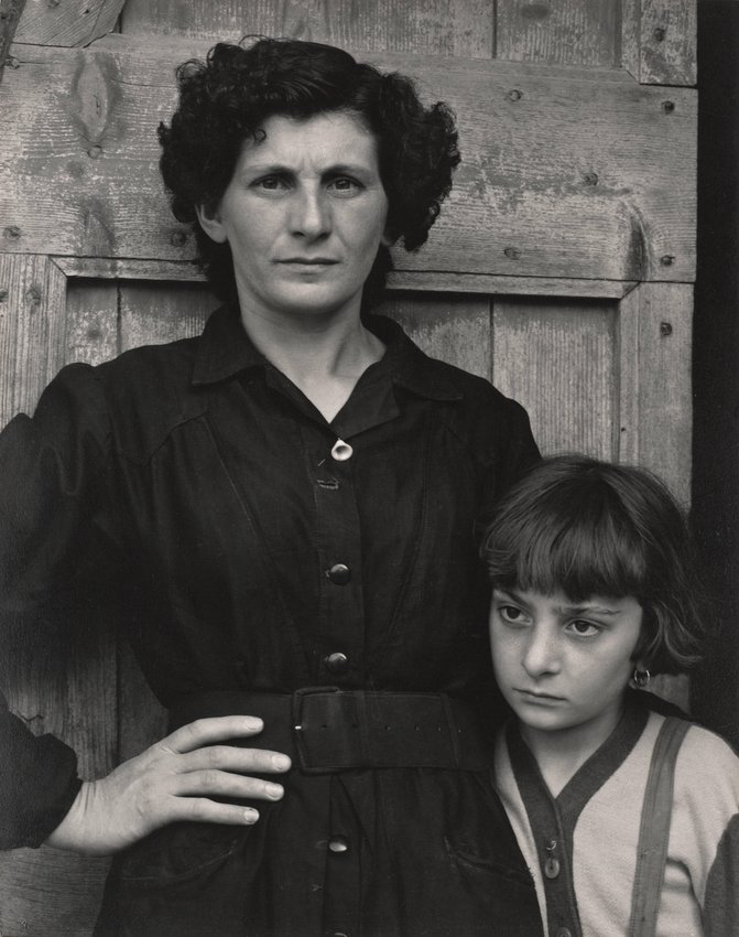 image of 'Postmistress and Daughter, Luzzara, Italy'