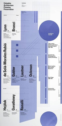 Columbia University School of Architecture, Planning, and Preservation, Fall 1994 Lecture Series Poster