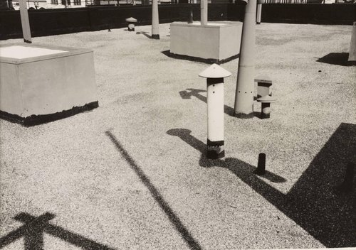 Untitled [Rooftop with shadows]