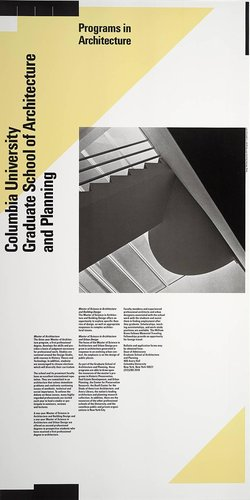 Columbia University, Master of Science in Architecture poster
