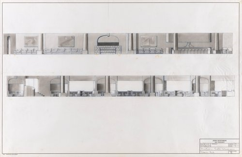 Elevations for Café Intermezzo, Davies