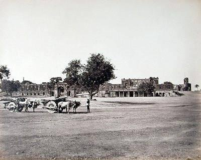 Bailey-guard, Residency, etc. general view, Lucknow