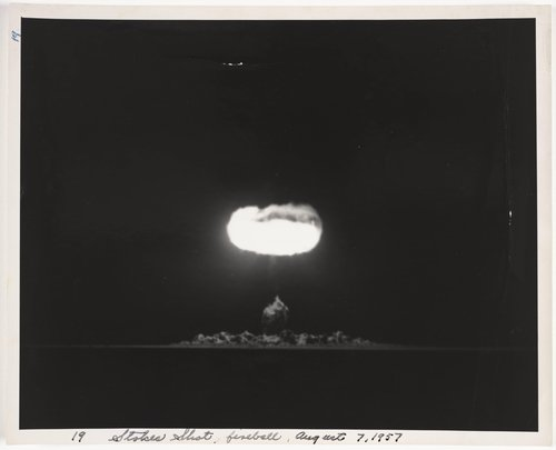 Atomic Tests in Nevada [Stokes Shot, fireball, August 7, 1957]