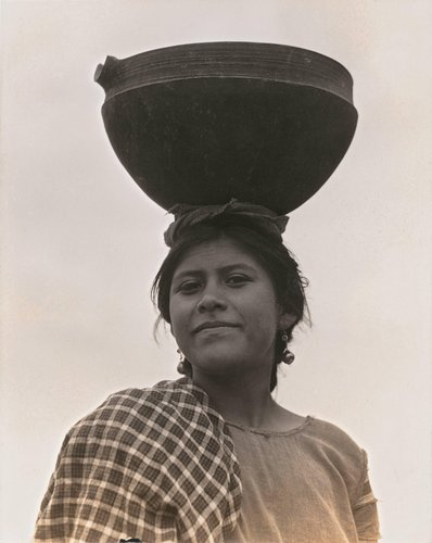 Untitled [Woman with pot on head]