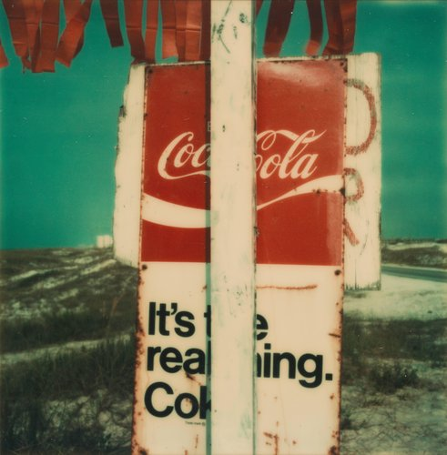 Untitled [Obscured Coca-Cola sign]