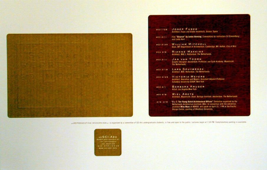 image of 'SCI-Arc Representing Modernism, Spring 1998 Lecture Series poster'