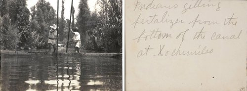 "Untitled [""Indians getting fertalizer [sic] from the bottom of the canal at Xochimilco""]"