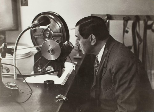 Film director Ernst Lubitsch at work