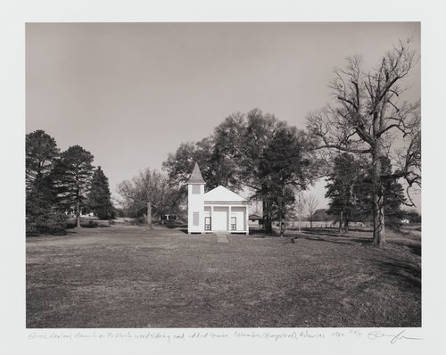 Greek Revival church with flush wood siding and added tower, Columbus (Hempstead County), Arkansas, from the series Of the Soil