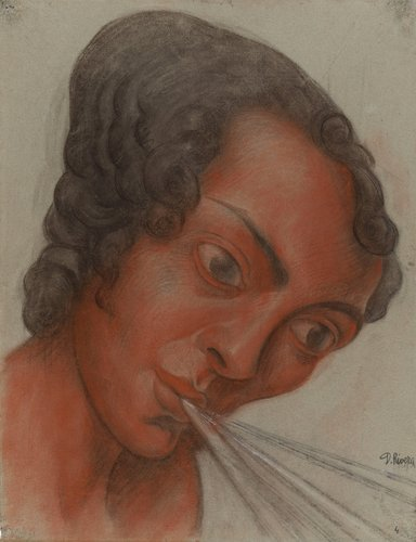 Untitled (head of the figure Music), study for the mural Creation, National Preparatory School, Mexico City