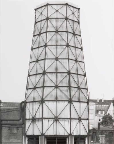 "Kühlturm, ca. 1950, Zeche, ""Victoria Mathias,"" Essen, Ruhrgebiet (Cooling tower, ca. 1950, ""Victoria Mathias,"" Essen, Ruhr District), from the portfolio Industriebauten (Industrial Buildings)"