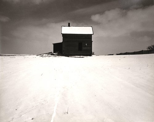 Farmhouse in Winter, near Lincoln, Nebraska