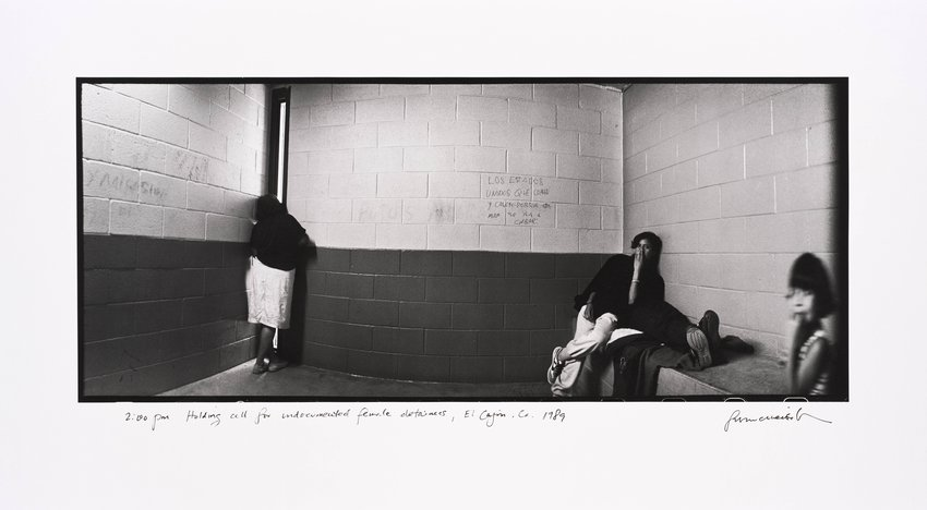 image of '2:00 pm Holding cell for undocumented female detainees, El Cajon, California, from the series Crossings'