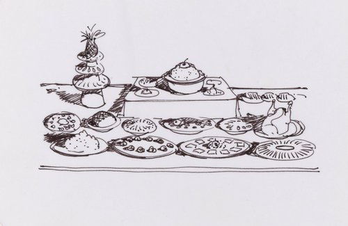 Untitled (Tabletop Food Display)