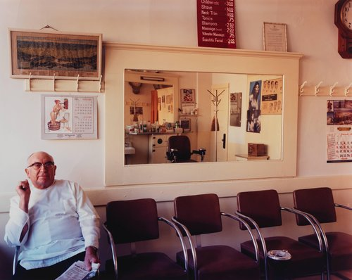 Giannini's Barber Shop, established 1936, 482 6th Street, from the series South of Market, 1978-1986