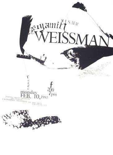 Benjamin Weissman Lecture poster