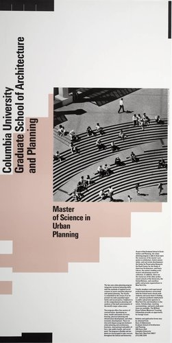 Columbia University, Master of Science in Urban Planning poster