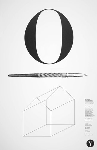 Yale School of Architecture poster for an open house