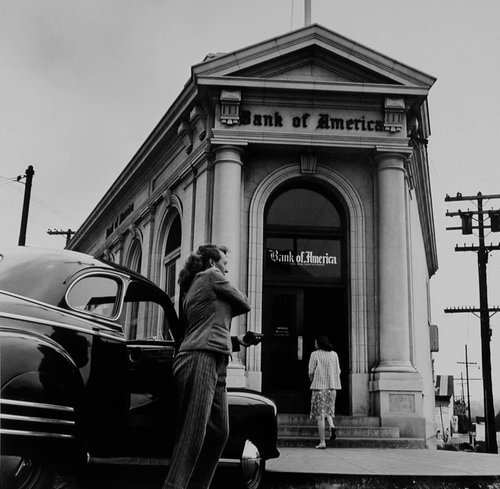 Mini Branch of the Bank of America in Colma, Suburb of San Francisco