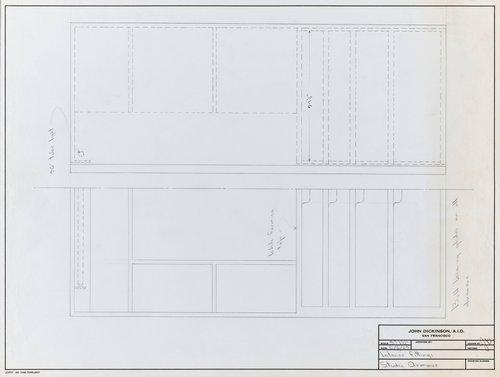 Interior fittings for studio armoire