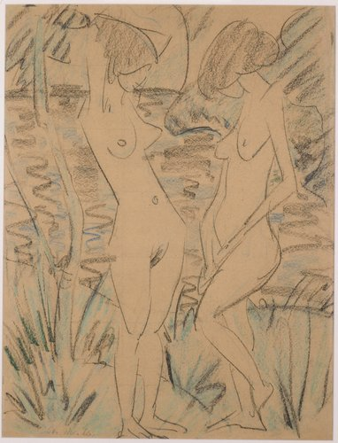 Two Nudes in Landscape
