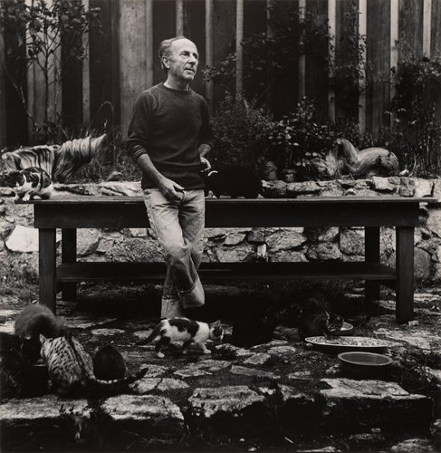 Edward Weston with Cats