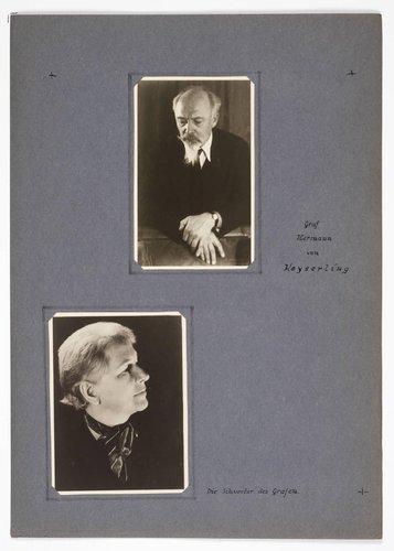 Hermann Graf Keyserling album, page 3