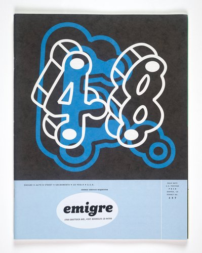 Emigre magazine, no. 48 (Untitled II)