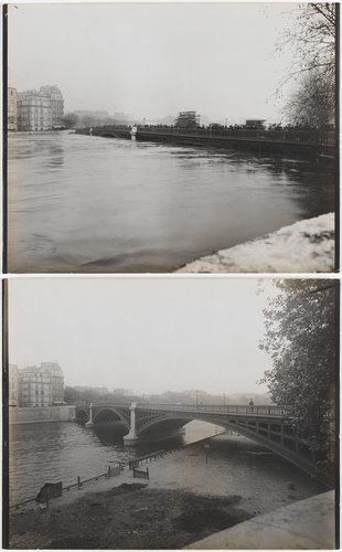 Paris Flood, Pont de Sully, January and June 1910