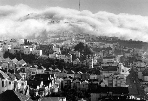 Fog over Twin Peaks, San Francisco