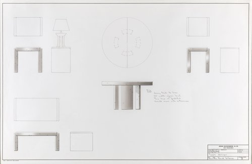 Table designs for Mr. and Mrs. Knud Wibroe