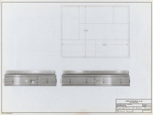 Bed platform with drawer storage for Michael Vincent