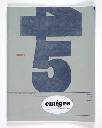 Emigre magazine, no. 45 (Untitled)