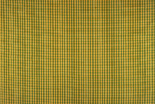 Mexicotton Plaid #1242 Varied Use Fabric [Ochre and Yellow Green]