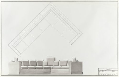 Sofa design for Mr. and Mrs. Knud Wibroe