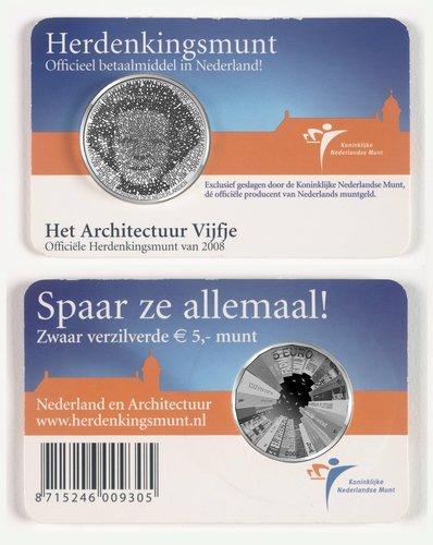 """Commemorative 5 Euro coin, the """"Architecture Fiver"""""""