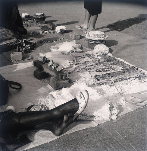 Handwork for sale, Marine Parade, Durban. 2 August 1982