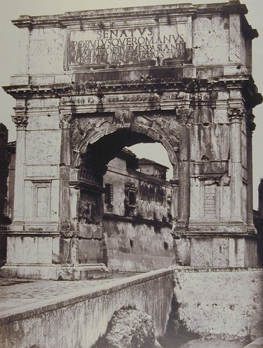Arch of Titus, from the Temple of Venus and Rome