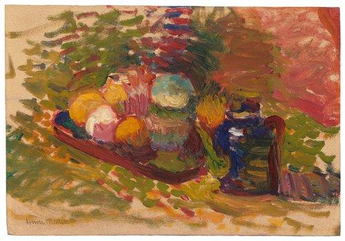 Nature morte—fruits, pot Sèvres (Still Life—Fruit, Sèvres Pot)