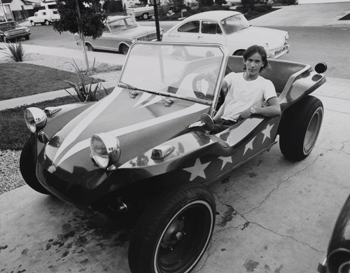 Young man in dune buggy, from the portfolio Leisure