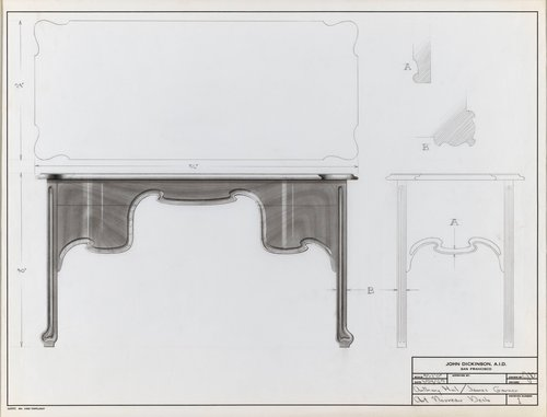 Art Nouveau desk for Anthony Hail and James Garner