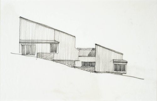 Sketch for Condominium at The Sea Ranch, California