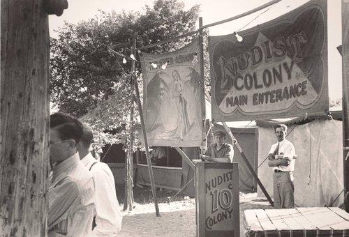 Sideshows at the Fourth of July Celebration, Ashville, Ohio